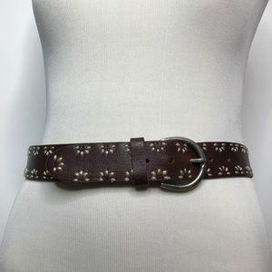 Aeropostale 100% Leather Belt Size Medium